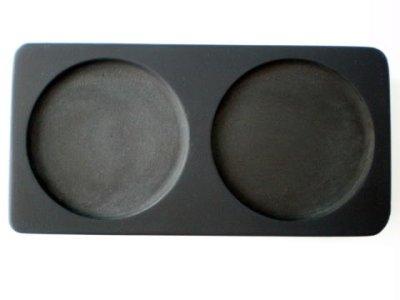 画像1: 篆刻用和硯 双円二面硯 四二寸