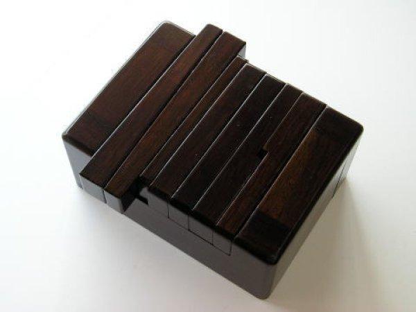画像1: 黒檀風高級印床(くさび式) (1)