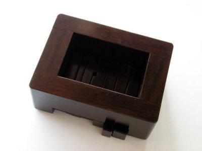 画像2: 黒檀風高級印床(くさび式)