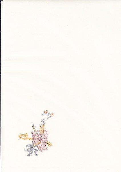 画像1: 印箋 特製復刻十竹斎 半紙版 5枚入 No.6 (1)